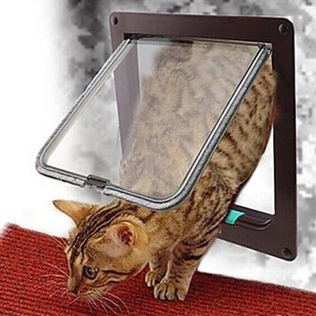 Window Plastic Hole Puppy Cat Door Pet Supplies