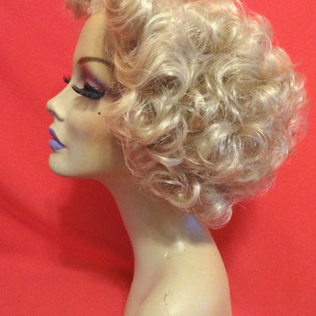 50s SANDRA DEE WIG Lace Front Custom Costume Professional Drag Queen Halloween Burlesque Cosplay Retro Blonde Black Brown Auburn White