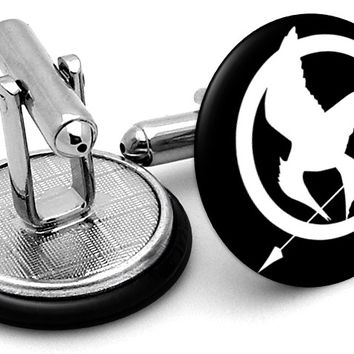 Hunger Games Mockingjay Black Cufflinks