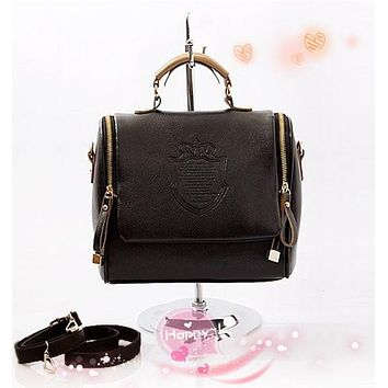 Fashion Women Handbag Vintage Stamping Shield Camera Satchel Shouder Bags