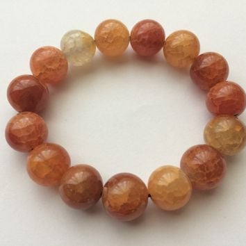 Stone Beaded Bracelet Dragon Scale Agate - Victory