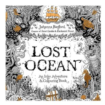 1 Pcs/24 Pages Lost Ocean Coloring Books For Adult Children Graffiti Anti-Stress Drawing Book Adult Coloring  Pages Livro
