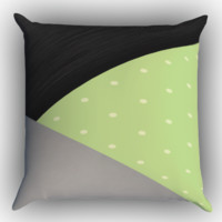 Light Mint Green Zippered Pillows  Covers 16x16, 18x18, 20x20 Inches