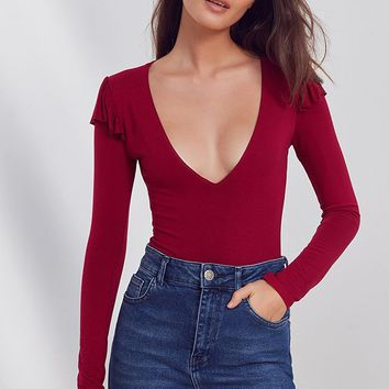 Out From Under Jasmine Ruffled Bodysuit | Urban Outfitters