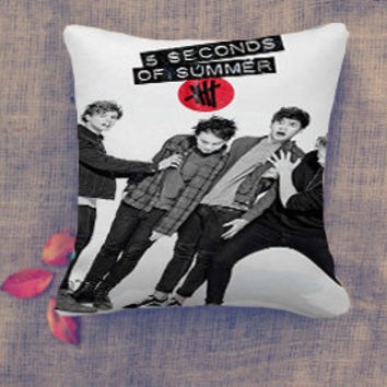 5 Sos Album Cover Pillow Case/ Pillow Cover/ 16 x 16/ 18 x 18/ 16 x 24/ 20 x 30/ 20 x 36