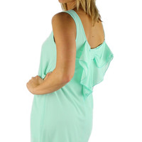 Sleeveless Bow Back Dress - Mint