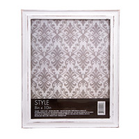 ConsumerCrafts Product White Picture Frame: Whitewashed Wood, 8 x 10 inches