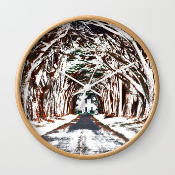Perfect Driveway Wall Clock by Artist CL