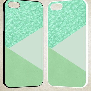 Mint Green F0517 iPhone 4S 5S 5C 6 6Plus, iPod 4 5, LG G2 G3, Sony Z2 Case