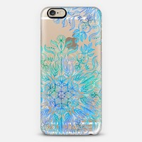 Beautiful Life - blue mandala on transparent iPhone 6 case by Micklyn Le Feuvre | Casetify
