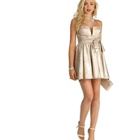 Carmen-Champagne Homecoming Dress