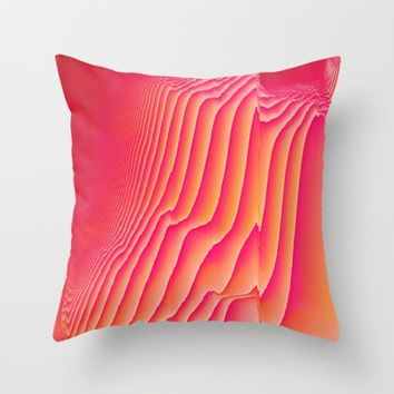 Sorbet Melt Throw Pillow by Ducky B
