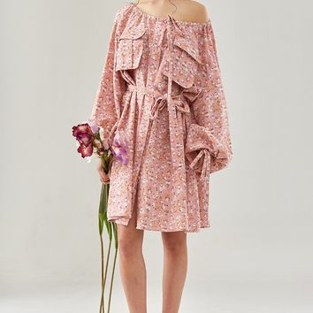 Small Floral Pullover Dress