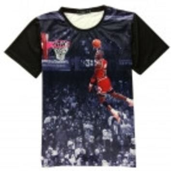 3D Print Air Jordan Basketball Competition T-shirt