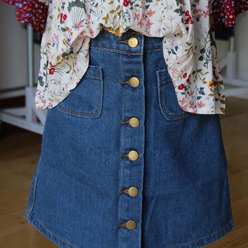 Holly Denim Skirt