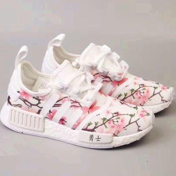 Kalete Adidas NMD Boost Women Cherry Blossoms Running Sport Casual Shoes Sneakers