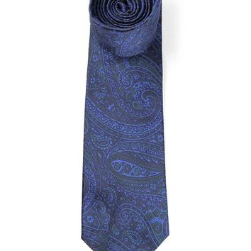Etro embroidered paisley tie