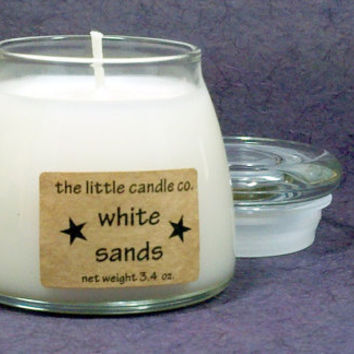 White Sands Soy Candle Jar - Hand Poured and Highly Scented Container Candles