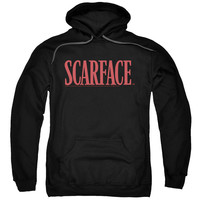 SCARFACE/LOGO-ADULT PULL-OVER HOODIE-BLACK