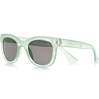 River Island Girls light green retro sunglasses