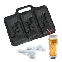 New Party Drink Ice Tray Cool Pistol Gun Ice Cube Style Ice Mold Ice Maker Mould