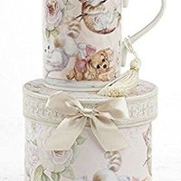 Delton Products Porcelain Tea Mug, Kittens and Puppy Pattern, Arrives in Matching Keepsake Box