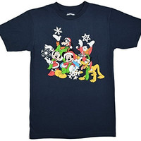 Disney Mickey Minnie Donald Goofy Holiday Cheer T-shirt