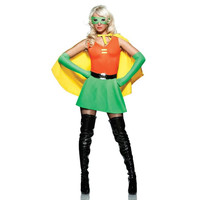 Seven Til Midnight Womens Side Kick Halloween Party Superhero Costume