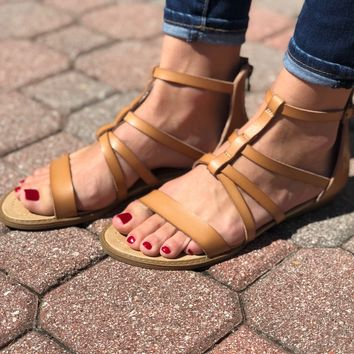 Lean On Me Sandals- Nude