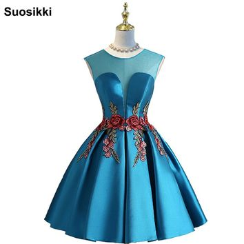 Prom Dresses short Sweetheart Evening party Gowns Graduation Dress for Girls Vestido Formatura vestido de festa plus size