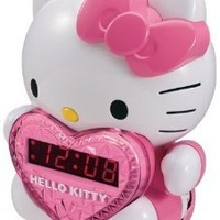 Spectra KT2064 Hello Kitty AM/FM Projection Clock Radio