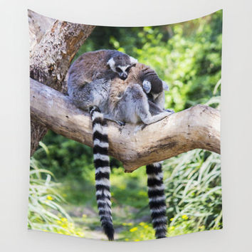 Animal Tapestry Lemur Tapestry Photo Tapestry Nature Tapestry Wall Hanging Tapestry Green Tapestry Modern Tapestry Hippie Tapestry Boho