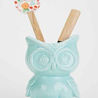 Owl Kitchen Canister- Mint One