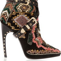 Emilio Pucci - Embellished suede ankle boots