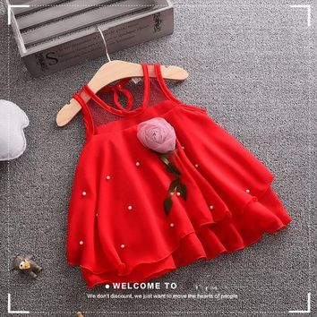 New Born Baby Girls Dresses Summer 2018 princess wedding cotton Kids Party Birthday