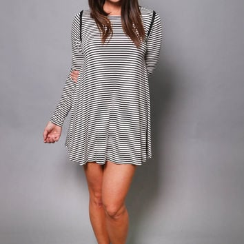 A Little Stripe In Your Step Dress