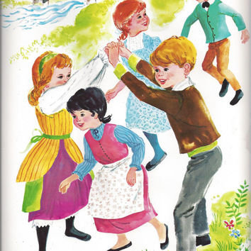 1967 Vintage Teaching Poster - London Bridge Nursery Rhyme, published by David C. Cook Publishing Company