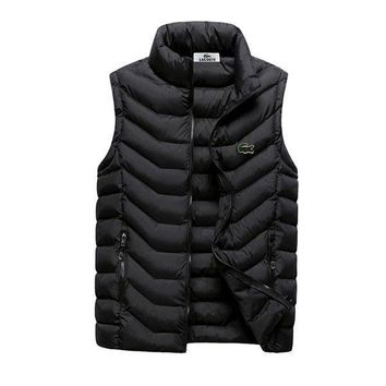 Lacoste Fashion Down Vest Cardigan Jacket Coat-1
