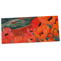 "Christen Treat ""Poppies"" Desk Mat, 26"" - Outlet Item"