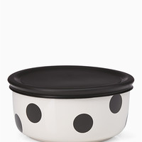 on the go deco dot food storage bowl | Kate Spade New York