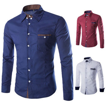 Urban Men's Fashion Slim Fit Dress Shirt
