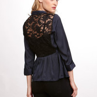 ideeli | SPENSE Lace Back Cardigan