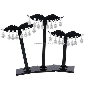 ac ICIKO2Q 3Pcs Earring Ear Stud Jewelry Display Holder Tree Storage Hanger Plastic Stand Show Rack  -W128