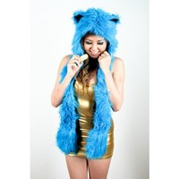 Blue Wolf Animal Hat - Animal Hats - Shop by category