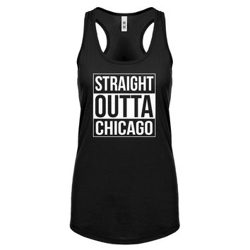 Straight Outta Chicago Womens Racerback Tank Top