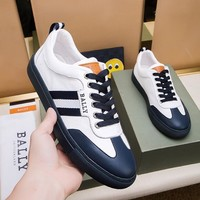 BALLY Men Casual Shoes Boots  fashionable casual leather