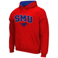 SMU Mustangs Arch & Logo Pullover Hoodie – Red