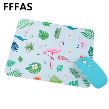 FFFAS 22 x 26cm Flamingo Unicorn Mouse Pad beautiful Office Gaming gaming keyboard mat lucky Small decoration Tapis de souris S