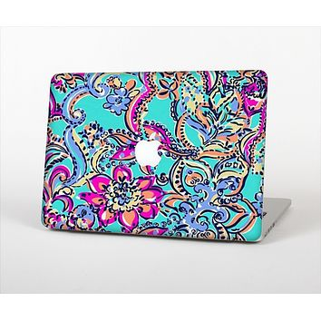 The Bright WaterColor Floral Skin Set for the Apple MacBook Air 11""
