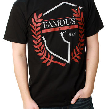 Famous Stars And Straps Men's Boundless Premium Crew Neck Graphic T-Shirt